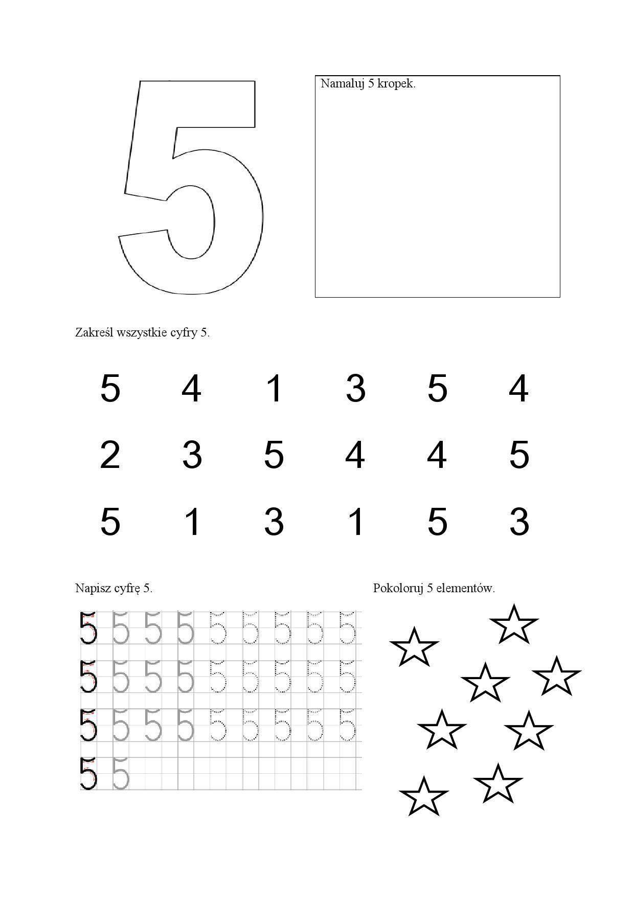 Cyfry - karty pracy Anna Czerwiec Dzień Matematyki Matematyka Pomoce  dydaktyczne | Preschool worksheets, Worksheets, School readiness