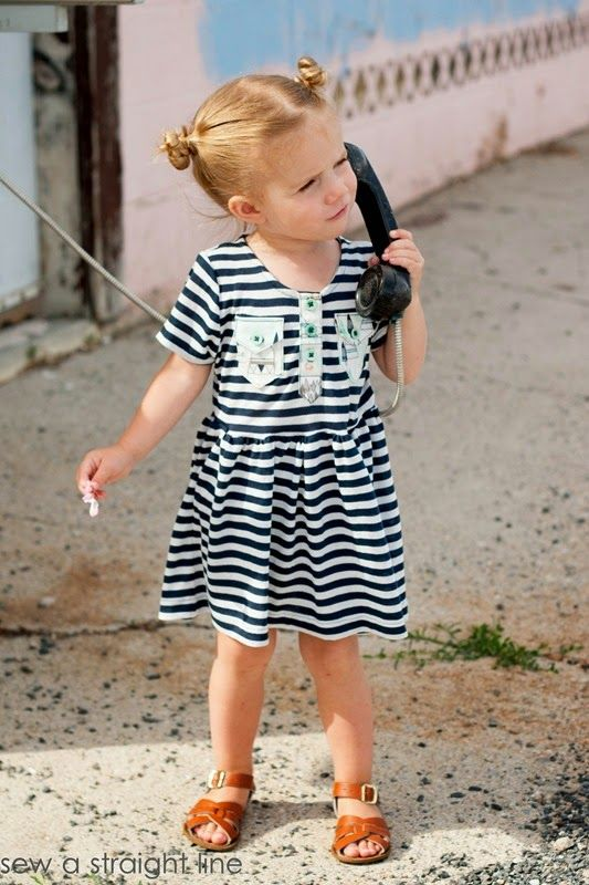 kensington dress- sew a straight line | Kids | Pinterest | Tanzen ...