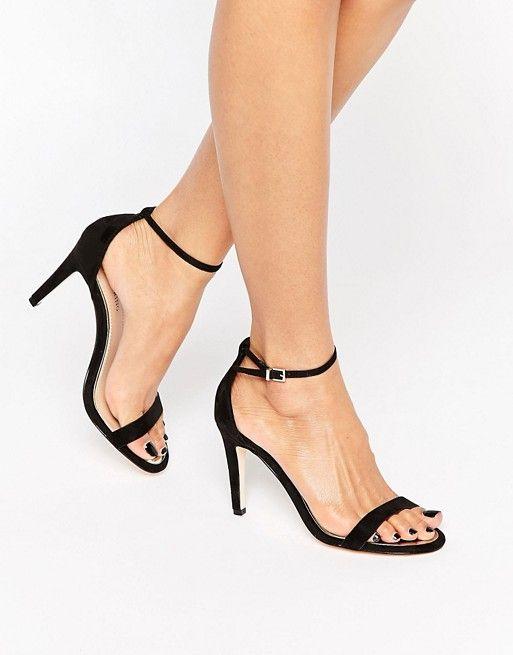 Sandals heels, Black mid heel shoes