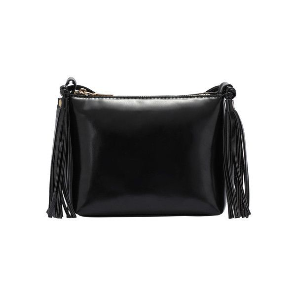 Black Zipper Fringe PU Bag ($17) ❤ liked on Polyvore featuring bags, handbags, fringe bag, black purse, pu purse, black fringe bag et zipper handbag