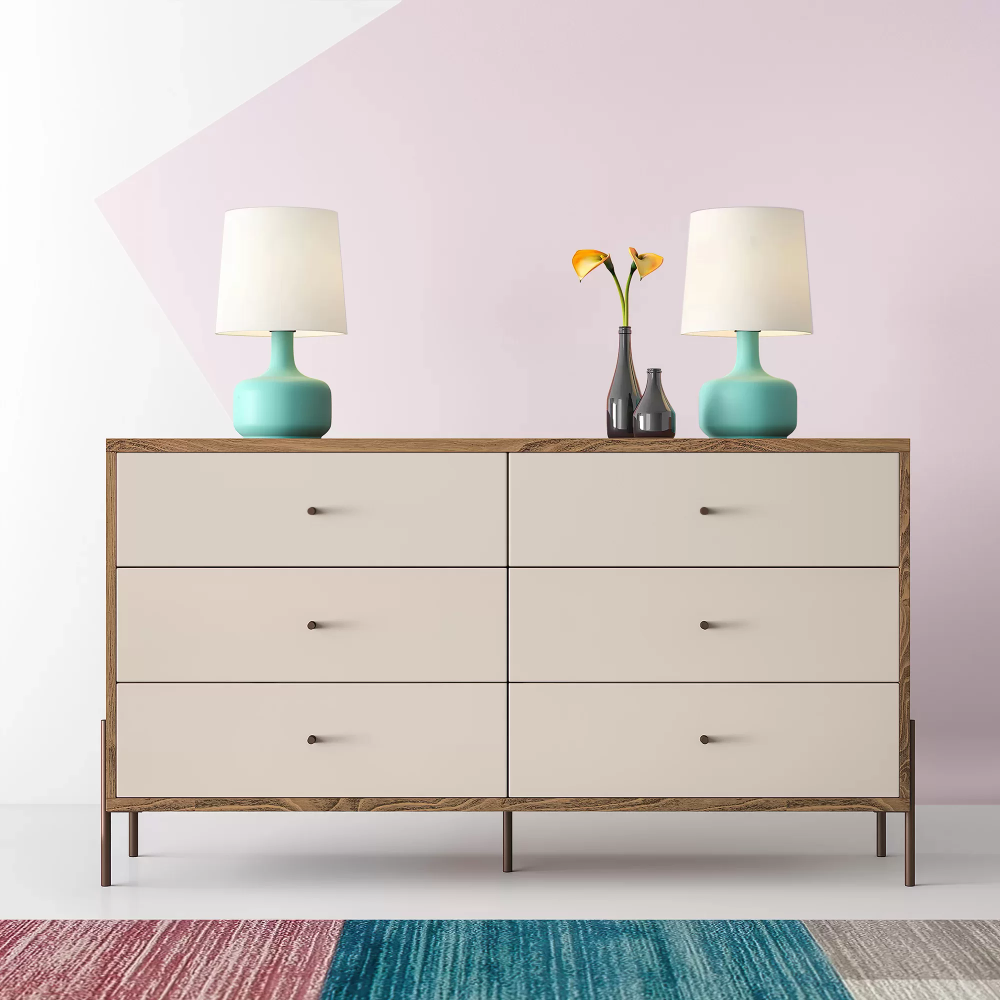 Alviso 6 Drawer Double Dresser In 2021 Double Dresser Furniture Home [ 1000 x 1000 Pixel ]