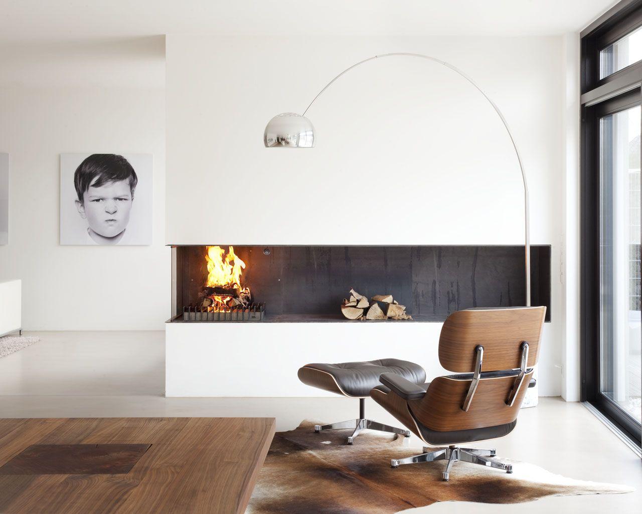 ein 3 seitig offener kamin mit stahlauskleidung die linke seite ist mit einem keramikglas. Black Bedroom Furniture Sets. Home Design Ideas
