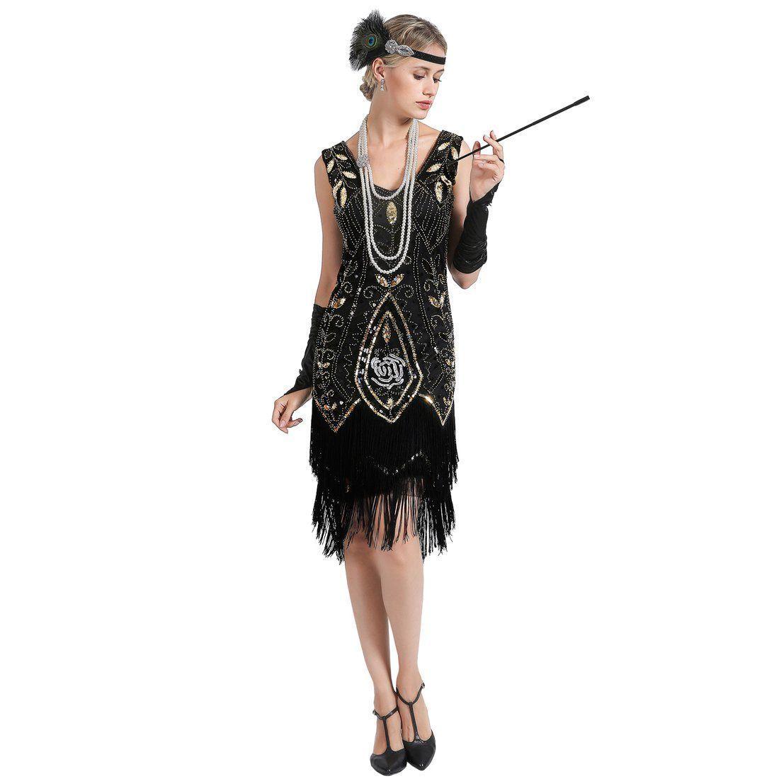 Black Gold 1920s Dress Peony Print Great Gatsby Outfits Great Gatsby Outfits Gatsby Outfit Gatsby Inspired Dress [ 1100 x 1100 Pixel ]