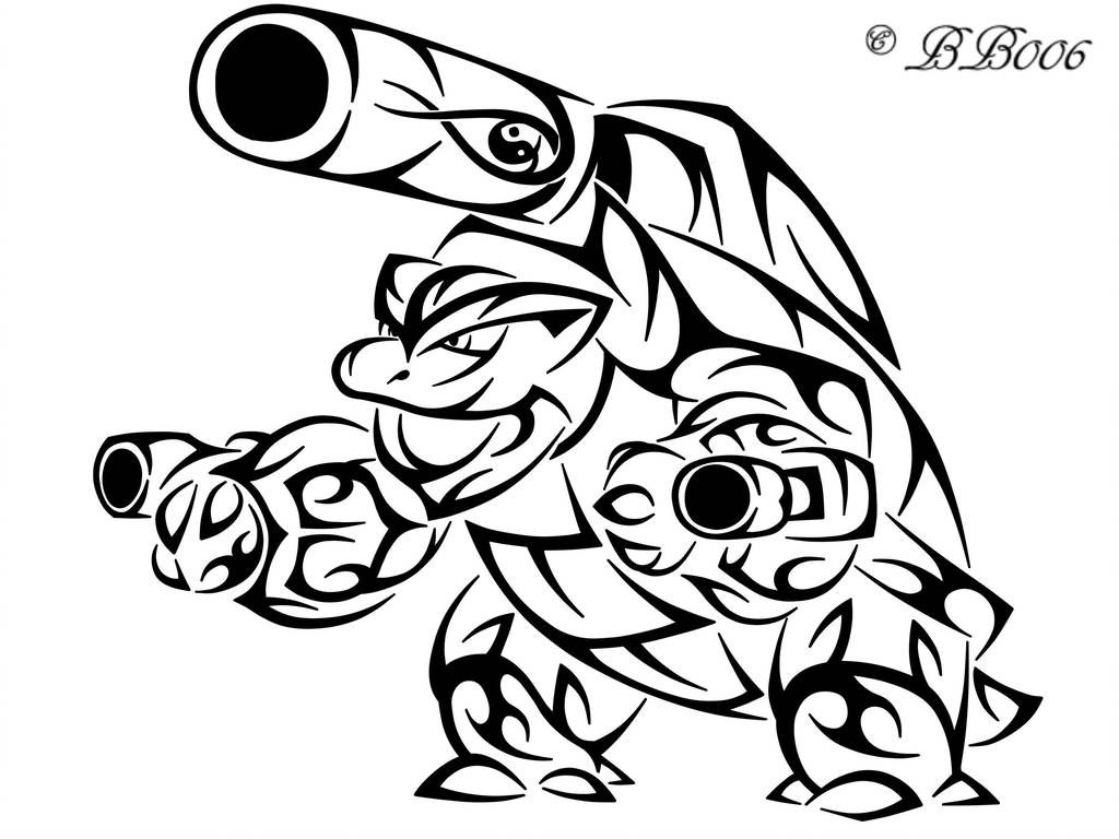 Tribal Mega Blastoise By Blackbutterfly006