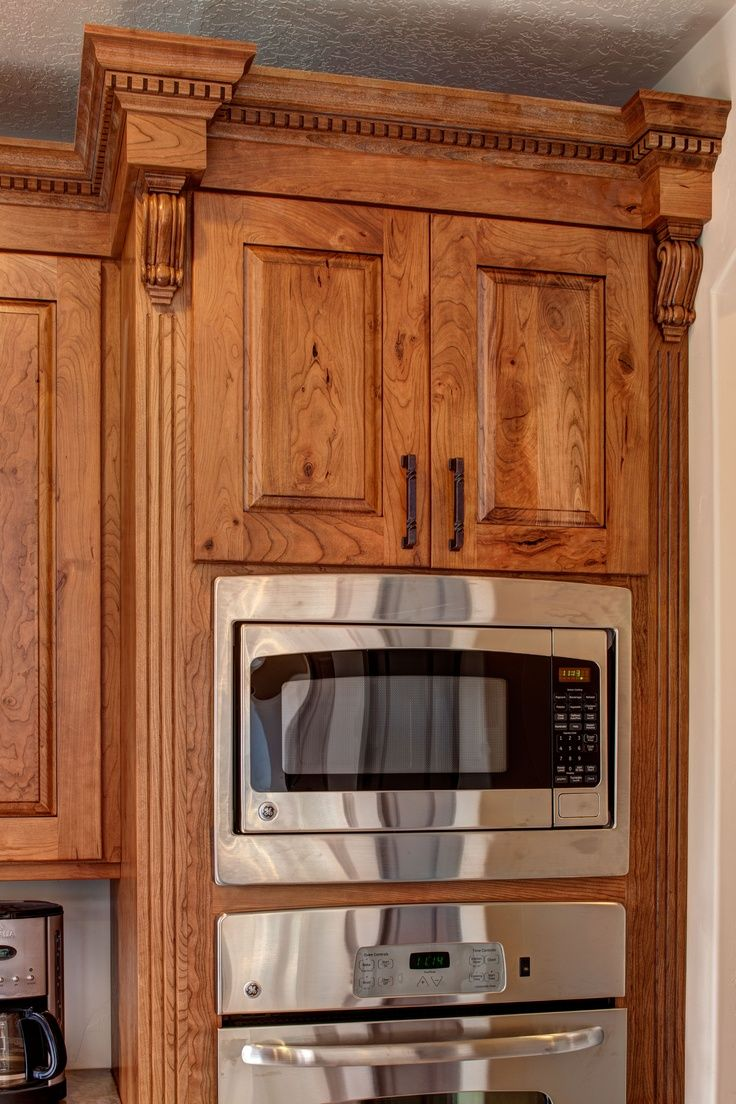 knotty cherry ginger brown glaze; butternuut stained cabinets ...