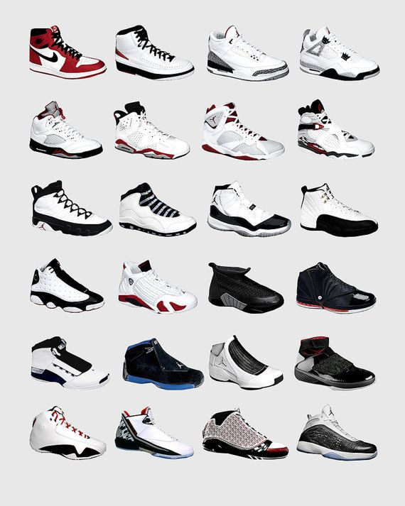 40d16ca13fde3b This original poster features the history of Jordan kicks and collages  together all their great designs into one awesome typological chart.