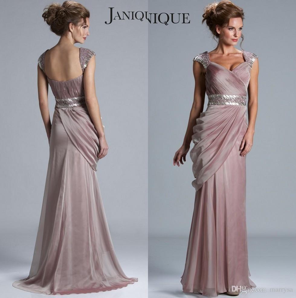 Blush Pink Modern Dresses For Mother Of Bride 2016 Janquie