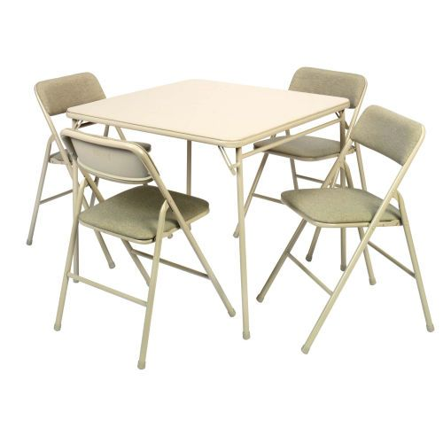 cosco® 5 piece 34in card table and chairs set (14-551-whd) - ace