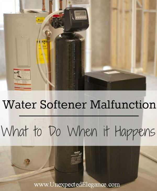 Water Softener Malfunction How To Know And Steps To Take Water