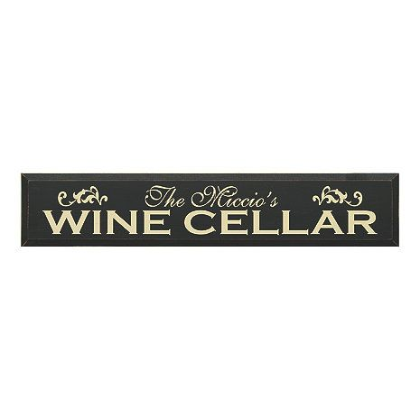 Personalized Wooden Wine Cellar Sign (7 X 36) - Wine Enthusiast  sc 1 st  Pinterest & Personalized Wooden Wine Cellar Sign (7 X 36) - Wine Enthusiast ...