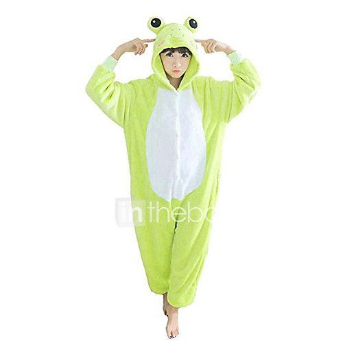 Pijamas Kigurumi Rana Pijamas de una pieza Disfraz Lana Polar Verde Cosplay  por Adulto Ropa de Noche de los Animales Dibujos animados 2018 -  443.82 1f58d368b2eb