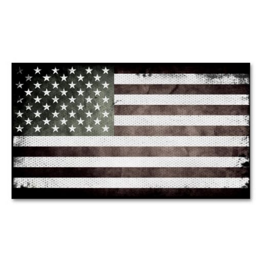 Black And White American Flag Business Card Zazzle Com American Flag Black White Business Cards
