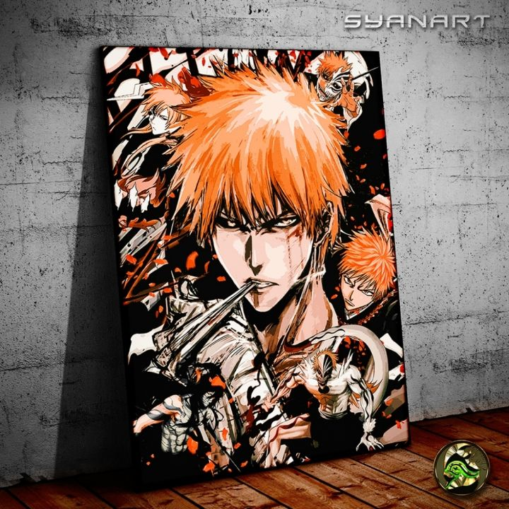 Bleach Ichigo kurosaki metal print canvas poster | Displate thumbnail