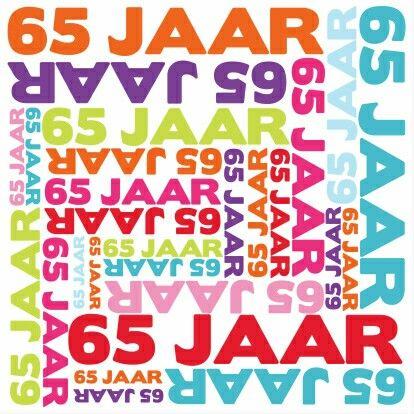 Vaak 65 jaar gefeliciteerd | Verjaardag wensen - Typography, Artwork en @UL06