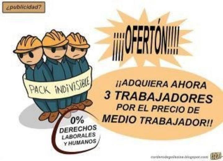 Super oferton por #ReformaLaboral. #patrones interesados, comunicarse =) #twittab
