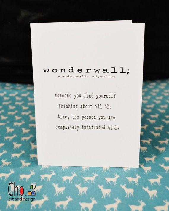 birthday card valentine's love card wonderwall 90's