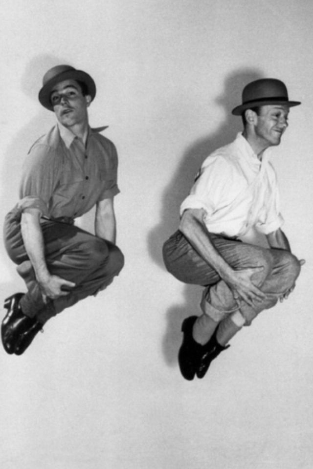 Gene Kelly and Fred Astaire jumping for Joy | Dandy style ...