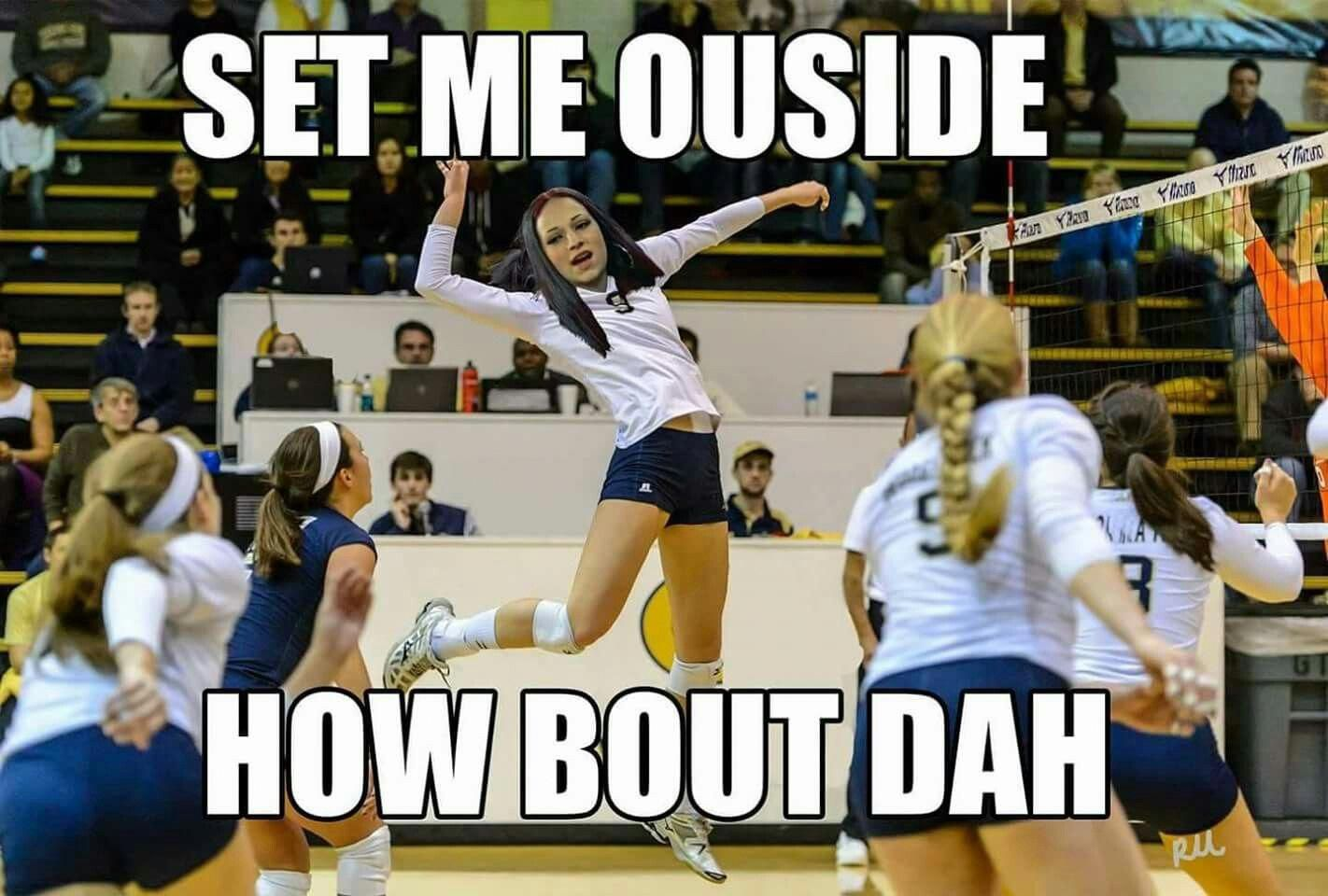 I M Pretty Sure This Meme Isn T Going Away Anytime Soon Credit Volleyball Memes Sportsmemes Volleyball Humor Volleyball Workouts Volleyball Inspiration
