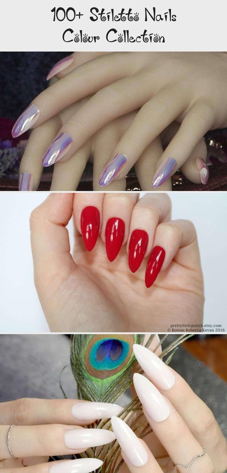 100+ Stiletto Nails Colour Collection - Nail Art -  Stiletto Nails. Stiletto Nails. Pin by Catherine On Nail Design #StilettoNailsBlack #StilettoNailsG - #AccentNails #Art #collection #colour #Nail #NailArtGalleries #nails #stiletto #StilettoNails