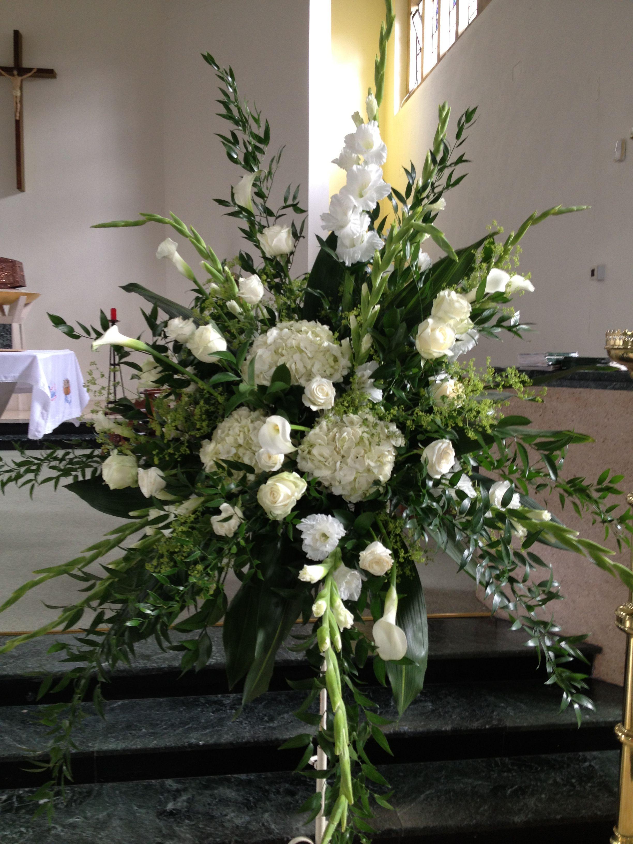 Close up of my church flower arrangement Church flower