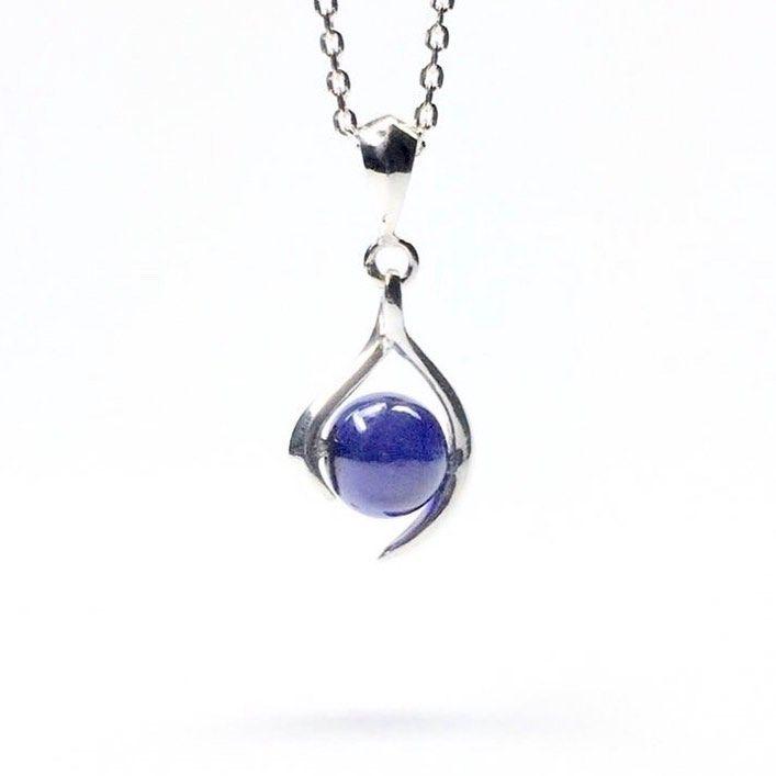 "September birthstone ""sapphire "" sterling silver necklace.  #jewelry #jewellery #jewelrydesign #jewelrymaking #jewelrygram #charisjewelry #stonenecklace #preciousstones #preciousstonejewelry #necklace #silverjewelry #sterlingsilver #solidgold #birthstone #birthstory #etsy #etsyjewelry #etsyshop #giftjewelry #giftjewellery #sapphire #sapphirenecklace #september #septemberstone"