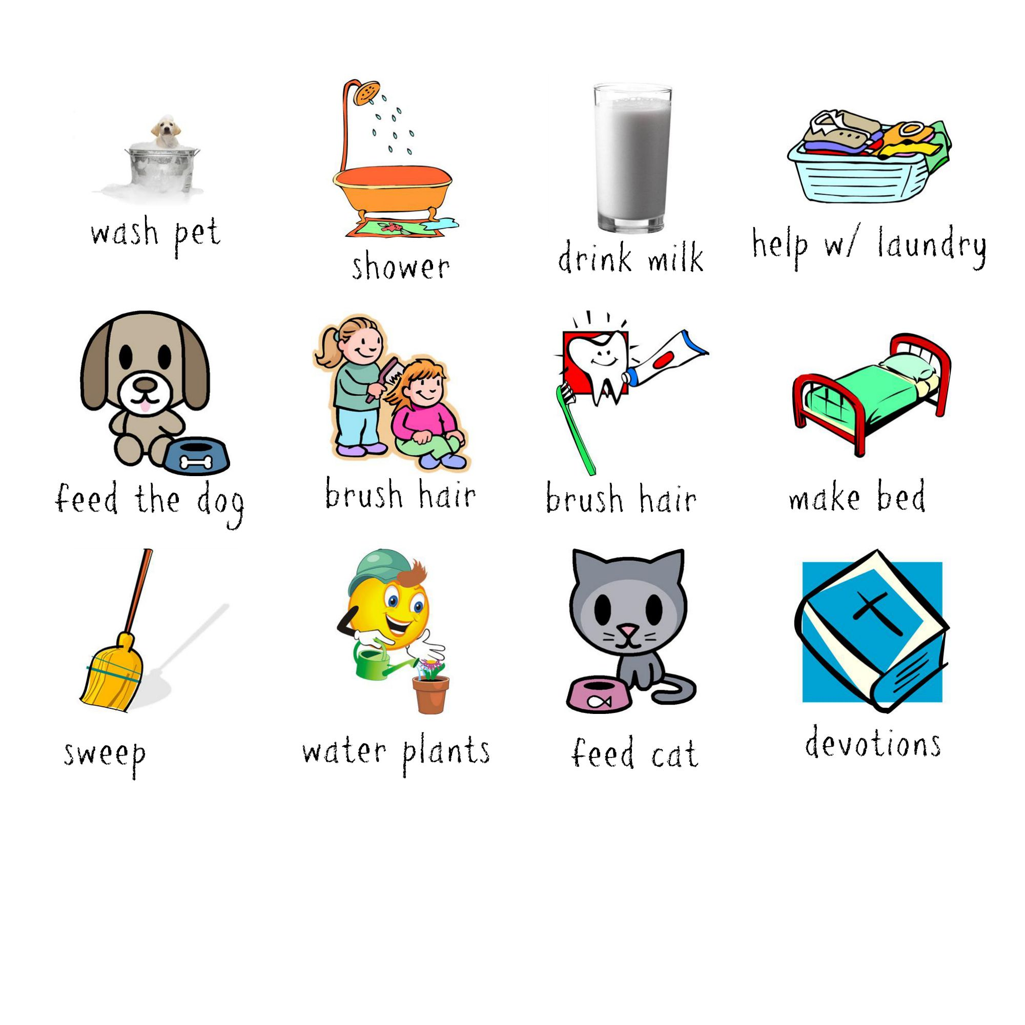 It is a photo of Amazing Printable Chore Pictures