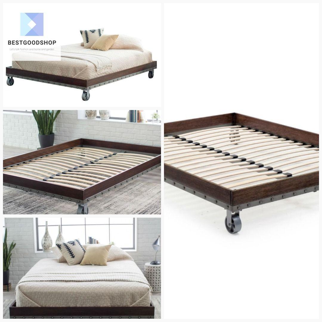 King size Heavy Duty Industrial Platform Bed Frame on