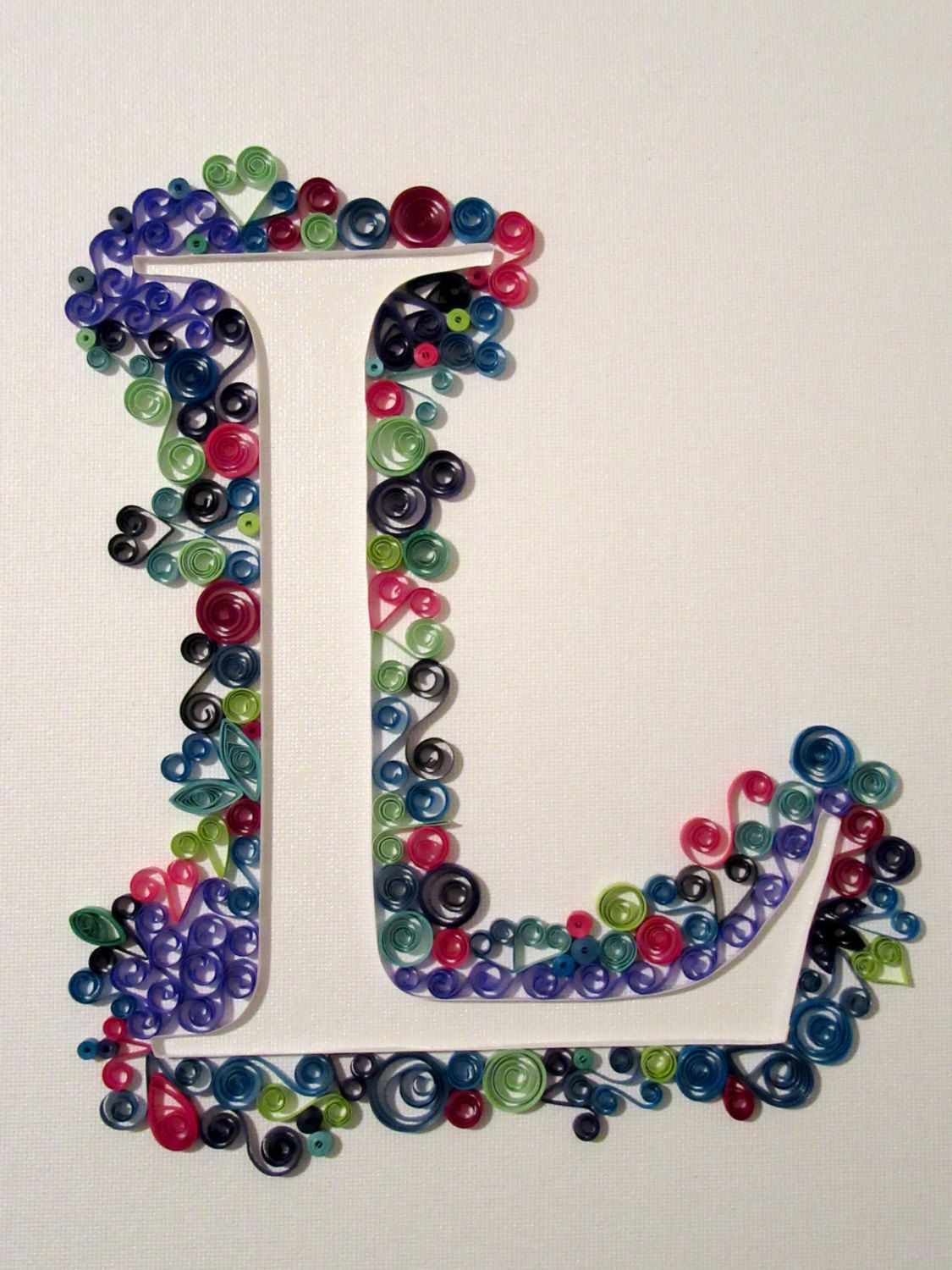 Initial Wall Art quilling paper anniversary, first anniversary gift, paper