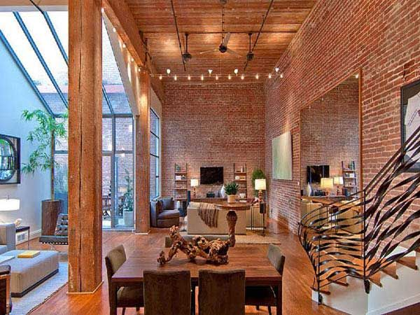 Loft et murs en briquettes Visite Deco Blog Exposed brick and