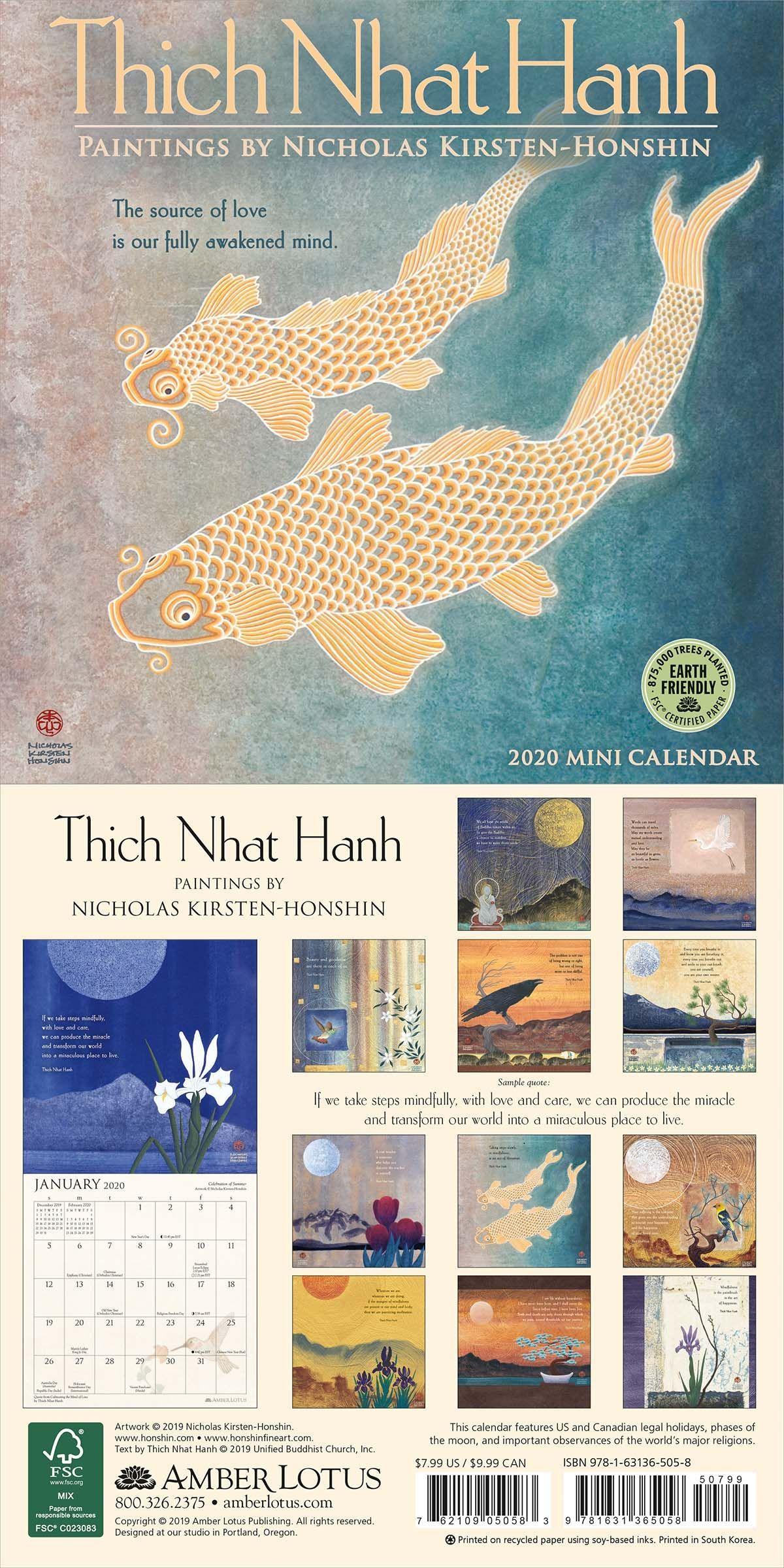 Thich Nhat Hanh Mini Wall Calendar