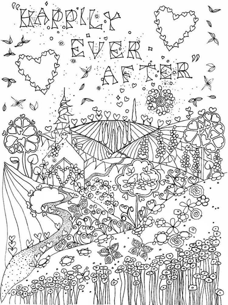 creative haven let there be love coloring page 2 - Love Coloring Pages 2