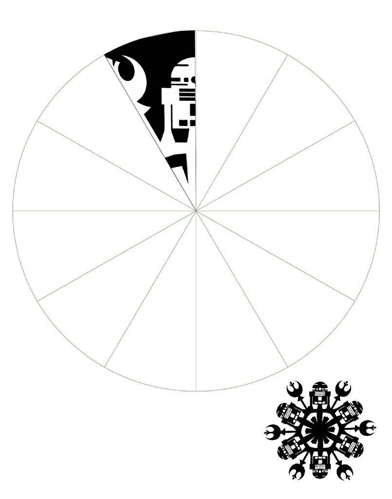 Snowflake | Star Wars Christmas theme | Pinterest | Arte de papel ...