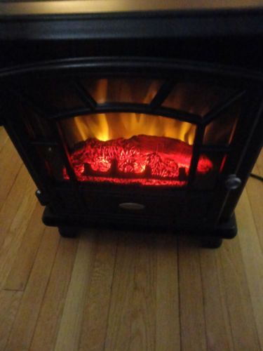 Electric Stove Heater Fireplace Chimney Free Twin Star Portable