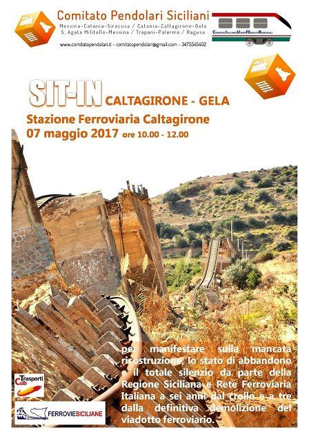 Riapertura Linea Ferroviaria Caltagirone Niscemi Gela Maggio 2011 Maggio 2017 Comitato Pendolari Siciliani Gelato Maggio Sicilia