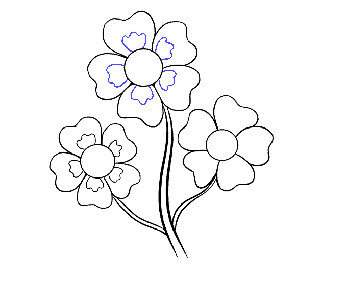 How To Draw Cartoon Flowers Easy Step By Step Drawing Guides Free Animated Flowers Download Free Clip Art Flower Drawing Cartoon Flowers Easy Flower Drawings