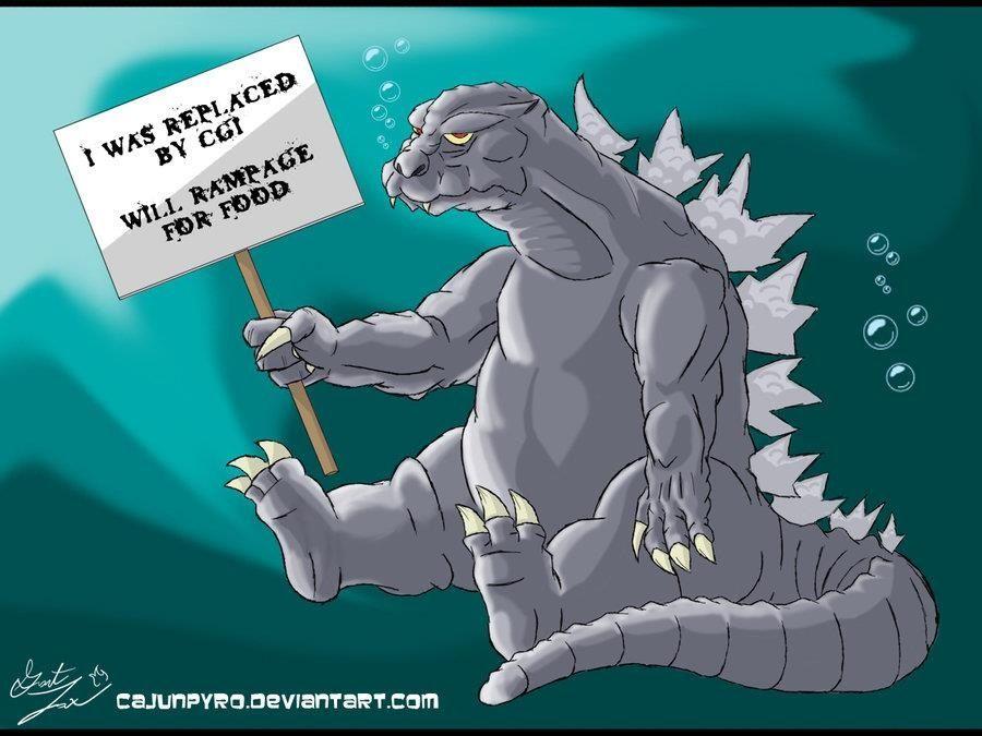 Unemployed Godzilla