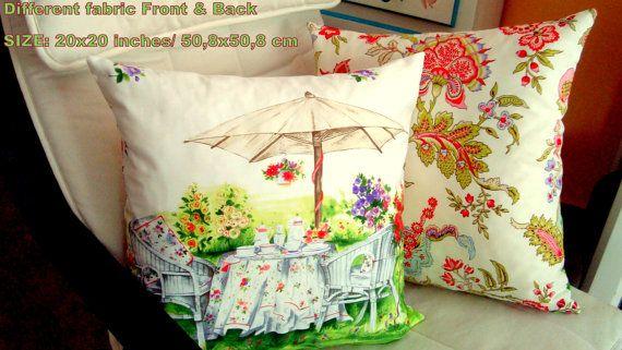 Green Tea time 20x20 pillow cover Wicker Chair garden by SABDECO, €28.00 #pillow #pillowcover #teatimepillow #cretonnepillow #reversiblepillow #pistachiogreenpillow #20x20pillowcover #summerspring #modernretrovintage #gardenhomedecor
