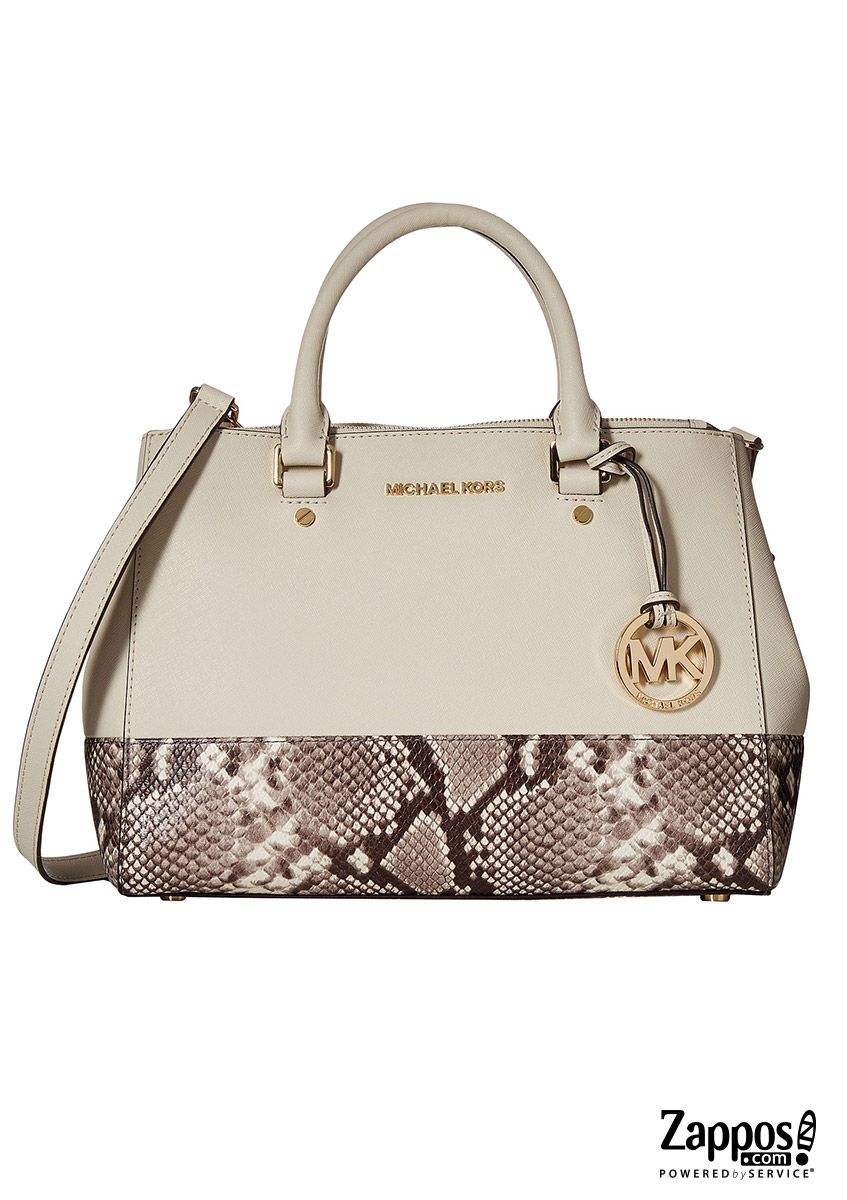 With The Architectural Allure Of Michael Kors Sutton Medium Satchel Crafted From Smooth Leather Featuring A Stylish Snake Print Bottom