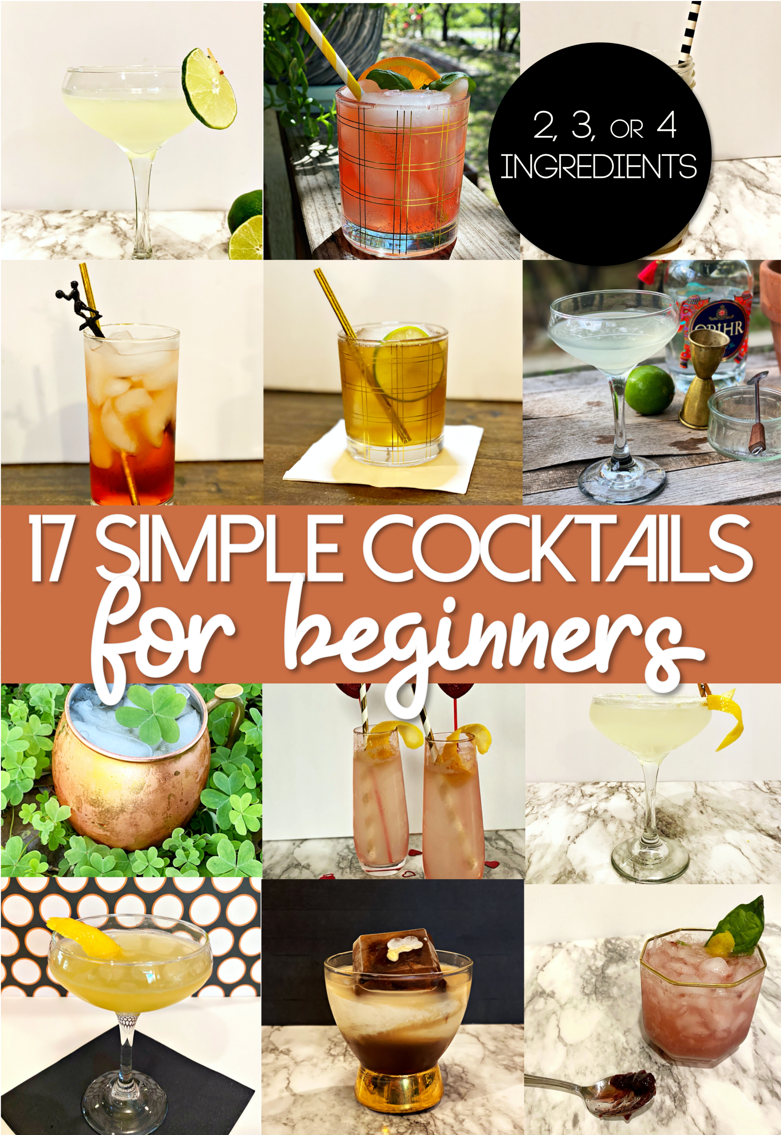 17 Simple Cocktail Recipes for Beginners | Easy Cocktails to Make at Home