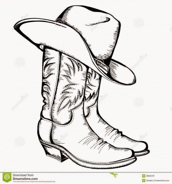 paper cowboy boot pattern - Google Search: | Pictures I like ...