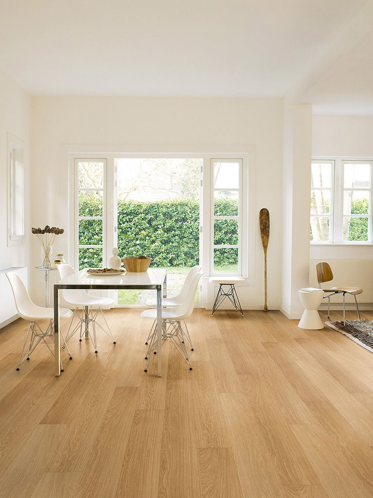 Natural Varnished Oak My Favourite Quick Step Floors Beautiful Laminate Wood Waterproof Laminate Flooring Natural Laminate Flooring Wood Floors Wide Plank