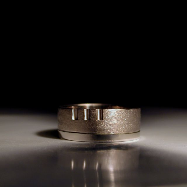 One Of My Favorite Men S Wedding Rings For An Architect Mens
