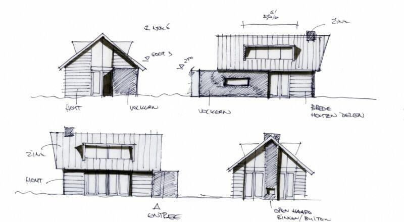 Sketch For A Summerhouse Summer House Floor Plans Diagram