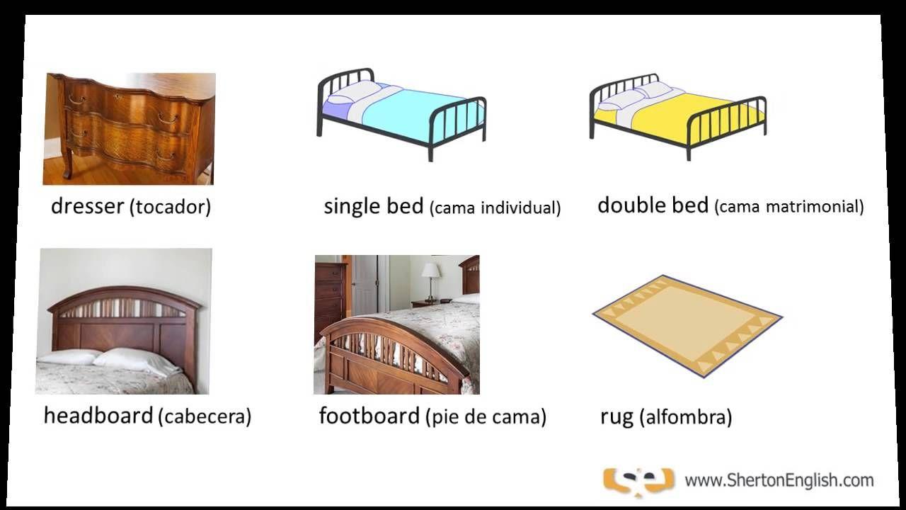 Visita Http Www Shertonenglish Com Para M S Temas De Vocabulario  # Muebles De Bedroom En Ingles