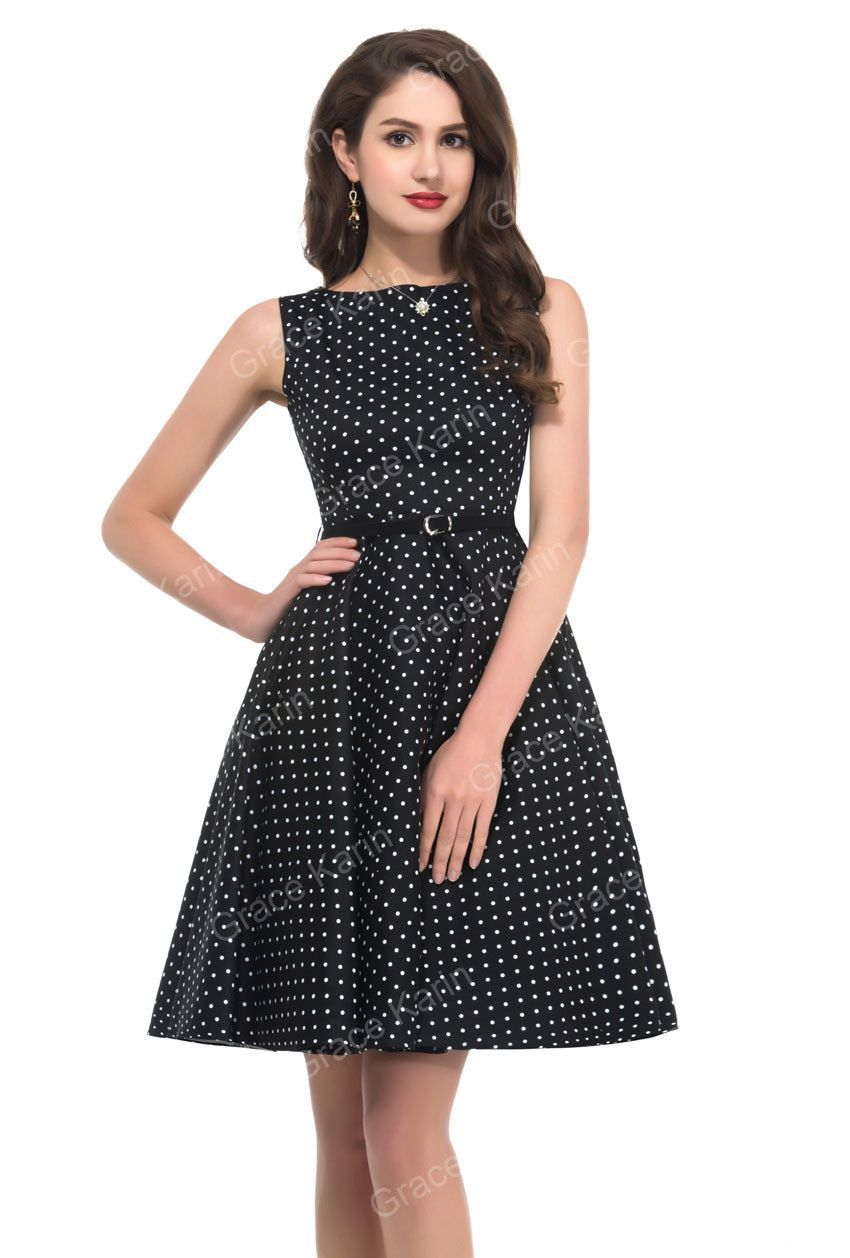 Tank style women summer vintage s rockabilly dresses pinup floral