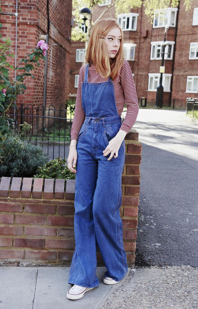 c1353a9d4e3fe0 Light Wash 70's Denim Dungarees   my 1970s in 2019   Fashion, Denim ...