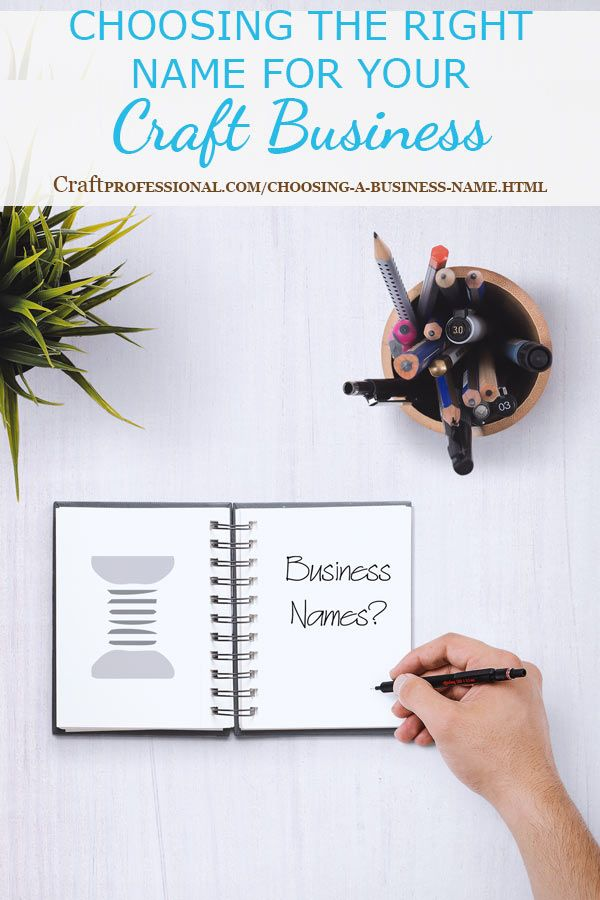 Choosing A Business Name Small Business Planners Craft Business