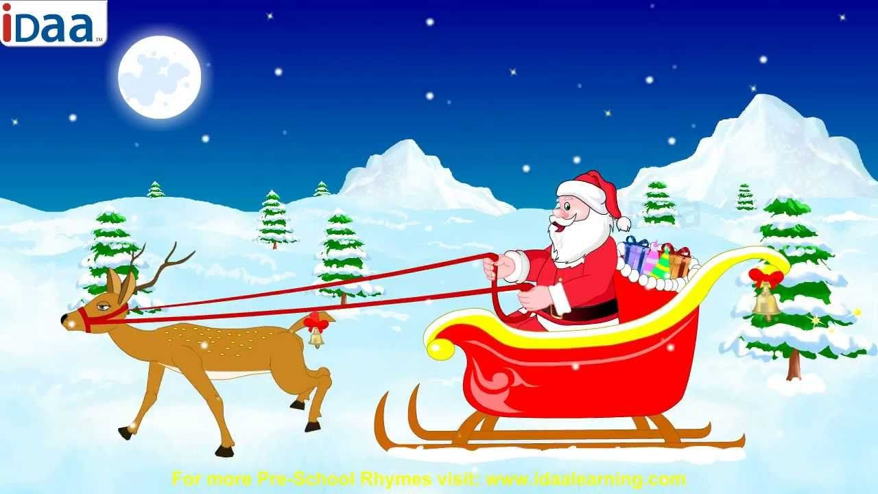 Jingle Bells Jingle Bells Jingle All The Way Oh What Fun It Is To Ride In A One Horse Open Sleigh Jingle B Kids Nursery Rhymes Rhymes For Kids Preschool Kids