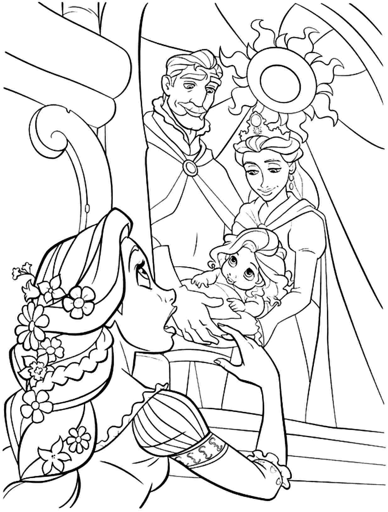 Printable Free Coloring Pages Disney Princess Tangled