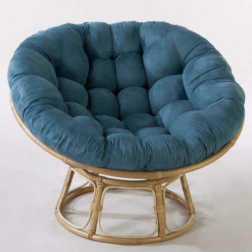 Teal Microsuede Papasan Chair Cushion Blue Microfiber By World Market Papasan Chair Chair Cushions Chair